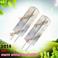 G4 3w 24 SMD 3014 LED кристаллический свет силикона шарика теплый/холодный белый светильник для дома AC/DC 12v