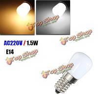 E14 1.5w SMD 2835 LED теплый белый белый холодильник лампочки лампы переменного тока 220В