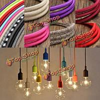 10м старинных красочный твист плетеный ткани кабель провод электрический свет кулон аксессуары