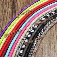 1m марочные красочное завихрение плетеная ткань кабель провод электрический свет кулон аксессуары