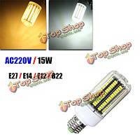 E14 e12 e27 b22 LED 15w 170 SMD 5730 теплый белый йоту огонь крышка кукуруза LED Свет шарика AC220В