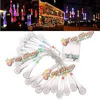 2.2m 20 LED красочные свадебные Xmas падение вечеринка на открытом воздухе декора формы фея света