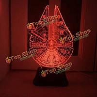 Красочная 3d USB свет ночи LED Настольная лампа для украшения праздника
