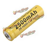 1шт TR 3.7v 2500мАh перезаряжаемые 14500 литий-ионный аккумулятор