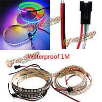 5V ws2812b 43W 144 SMD 5050 RGB LED полосы водонепроницаемый ip65 индивидуальной адресацией