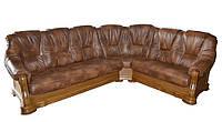 Угловой диван в коже BOZENA