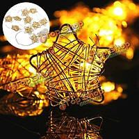 1m 10 LED s батареи звезда фея свет шнура сад свадьба декор