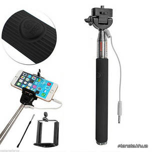 Монопод для селфи Monopod with cable take pole black, фото 2