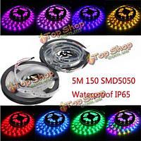 Ws2811 5м LED полоса 150 SMD 5050 LED RGB мечта цвет полосы света водонепроницаемый ip65 DC 12V
