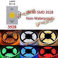 2m 9.6W 60 SMD 3528 не водонепроницаемый гибкий световой полосы лампы 12v DC Cutable декоративный свет