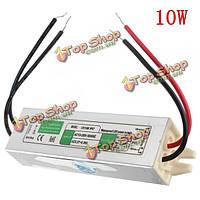 10Вт водонепроницаемый IP67 LED драйвер трансформатор питания AC110В-260В для DC12V