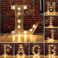 Урожай металла LED свет сделай сам буква а в м знаком карнавала отделка стен шатра