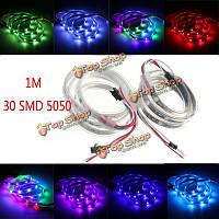 Ws2811 1m LED полоса 30 SMD 5050 цвета RGB мечта водонепроницаемый IP65 DC 12V