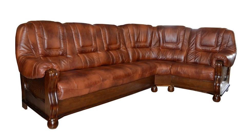New! Кожаный угловой диван ROMA
