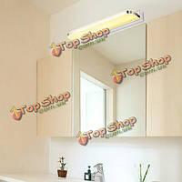 9w современный нержавеющая сталь филе LED зеркало в ванной настенный светильник для дома