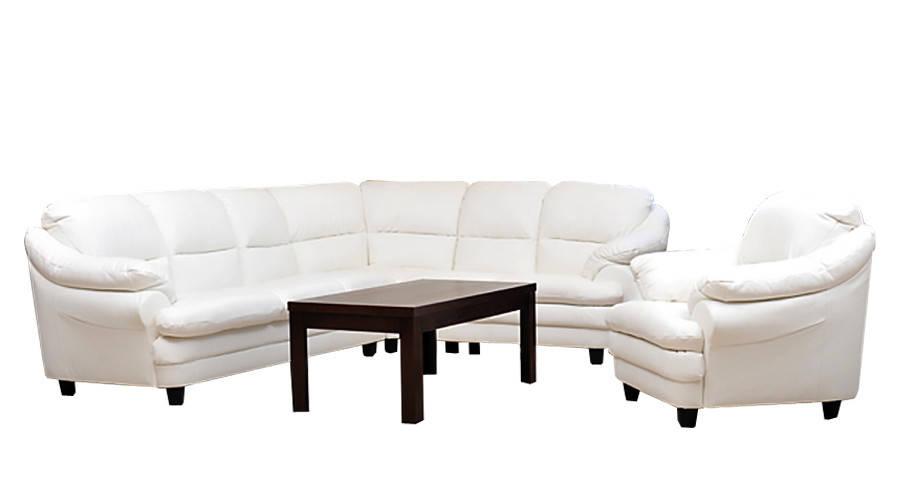 Мягкий угловой диван в коже SARA