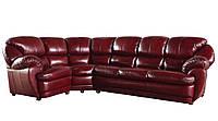 Новый угловой диван в коже Империал (230см-105см)
