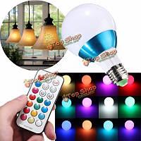 E27 10Вт RGB глобус луковицы RGB/RGB + белый/RGB + теплый белый LED Свет с 24key rmote управления переменного тока 85-265