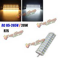 R7s 20Вт затемнения яркий 60 SMD 5050 1800lm LED лампы прожектор галогена замены лампы AC 85-265V