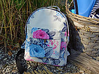 Маленький дизайнерский рюкзачок с цветочным принтом