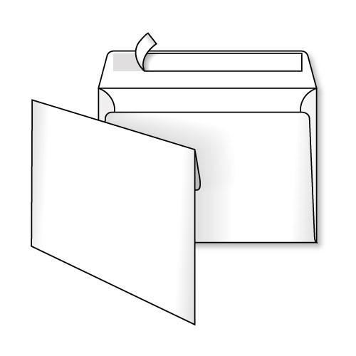 Конверт С6 (0+0) самоклеящийся с силиконовой лентой
