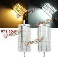 R7s 20Вт затемнения яркий 57301050lm привело лампы наводнений света галогена замены лампы AC 85-265V