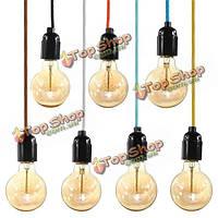 E27 промышленного старинных разъем лампы подвесной светильник Эдисон висит кулон свет держатель вилка 110-240В