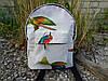 Мини рюкзак водонепроницаемый из хлопка с птицами