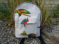 Мини рюкзак водонепроницаемый из хлопка с птицами, фото 1