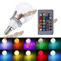 RGB E14 5w LED лампы изменения цвета шар света лампы + дистанционное управление AC 85-265V