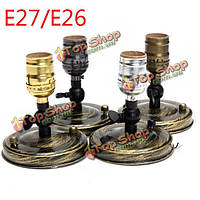 E27/E26 Эдисон сокет лампа старинных светло-серебристый/золотистый/зеленая патина/черный держатель 110-240