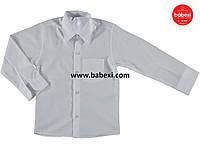 Школьная белая рубашка детская на мальчика 4, 6-7, 8-9, 10-11 лет.Турция!!!Одежда в школу детская.