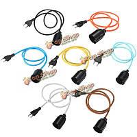 E27 ткань кабель подвесной светильник марочные промышленные нити света держатель лампы база 110В-240В