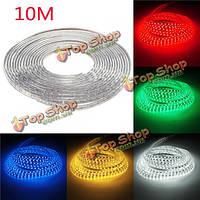 Водонепроницаемый IP67 10м 600smd 5050 красный / синий / зеленый / теплый белый / белый / RGB LED полосы света 220v