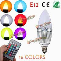 E12 канделябры Подсвечник 3w LED лампочка белый теплый чай landle RGB лампы 85-265