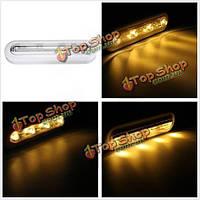 Новый 4 LED сенсорный датчик ночного освещения с питанием от батарей поворотный толчок шкаф лампы