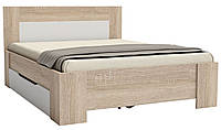 Кровать для спальни с выдвижным ящиком , цвет белый дуб