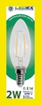 LED lamp LEDEX  filament 2Вт  E14 4000K