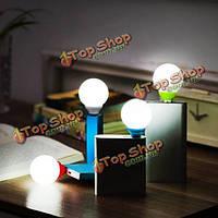 Творческий мини круглый USB LED ночь свет пузырь для общежитий спальни