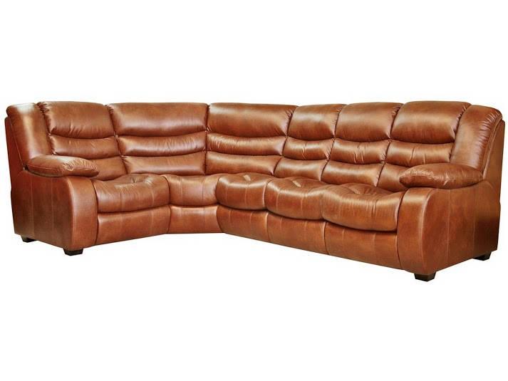 Новый угловой диван в коже Манхетен