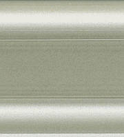 W 436A Алю металлик - Dollken SLK 50 напольный плинтус пвх с гибкими краями
