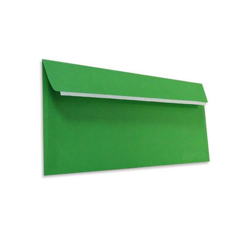 Цветной конверт Е65 (1+0) самоклеющийся с силиконовой лентой, зеленый