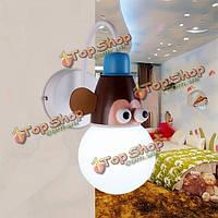 Новизна современные декоративные настенные свет мультфильм животных для малышей детей спальни