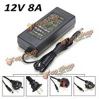 EU/US/UK/AU AC 100-240Вв12 В постоянного тока адаптера 8а питания трансформатора для LED полосы света