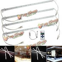 4 x 9w 5630 LED жесткая бар полоса света водонепроницаемый белый/теплый автомобиль шкафа лампа + дистанционный диммер DC 12V