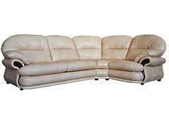 Шкіряний диван Орландо, розкладний диван, м'який диван, меблі з шкіри, диван