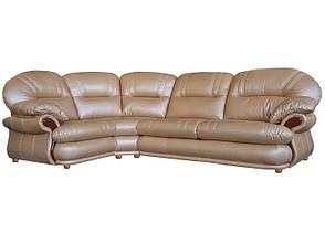 Кожаный угловой диван Орландо, не раскладной диван, мягкий диван, мебель из кожи, фото 2