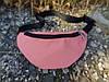 Розовая поясная сумка из джинса водонепроницаемая