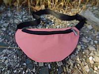 Розовая поясная сумка из джинса водонепроницаемая, фото 1