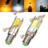 E14 7W LED початка лампы 350lm чисто белый/теплый белый кукуруза свет лампы переменного тока 85-265В